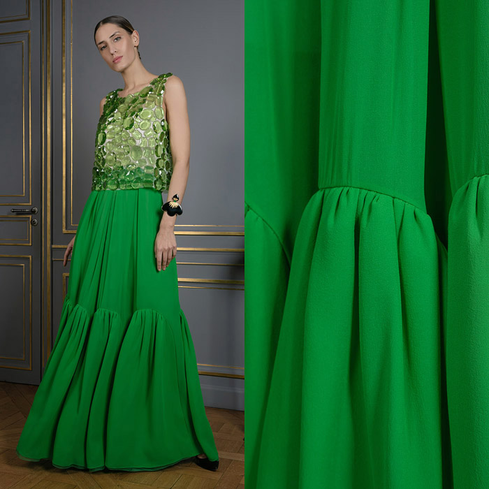 Parakeet green maxi skirt
